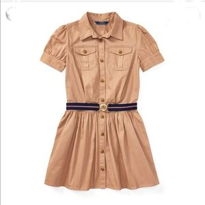 COPY - RALPH LAUREN Belted Cotton Chino Shirtdress